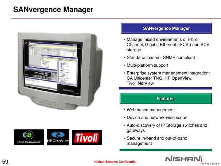 SANvergence Manager