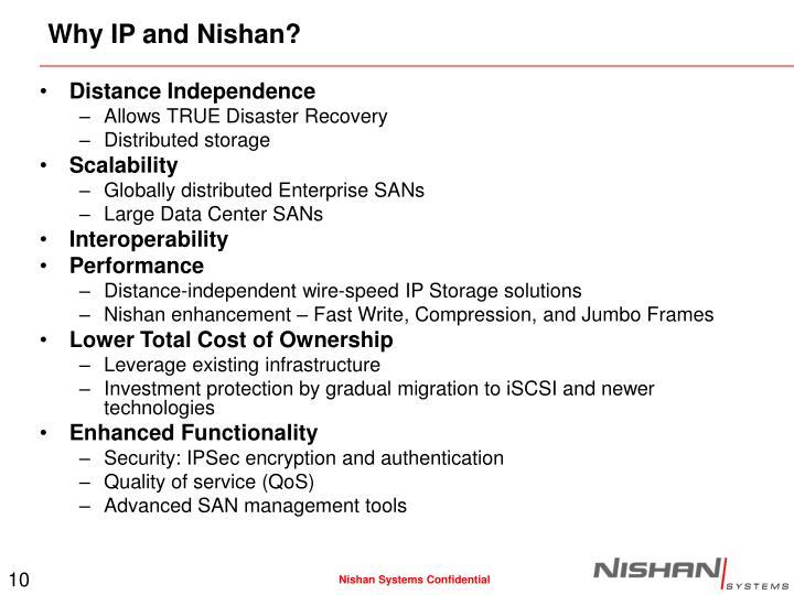 Why IP and Nishan?