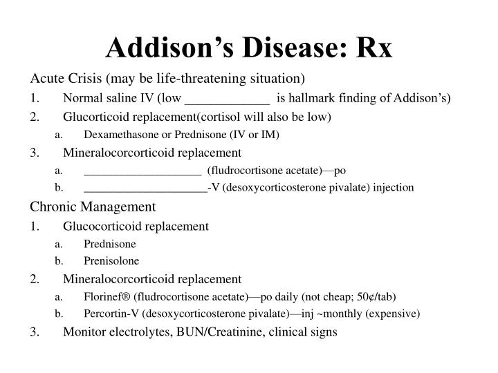 Addison's Disease: Rx