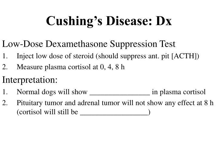 Cushing's Disease: Dx