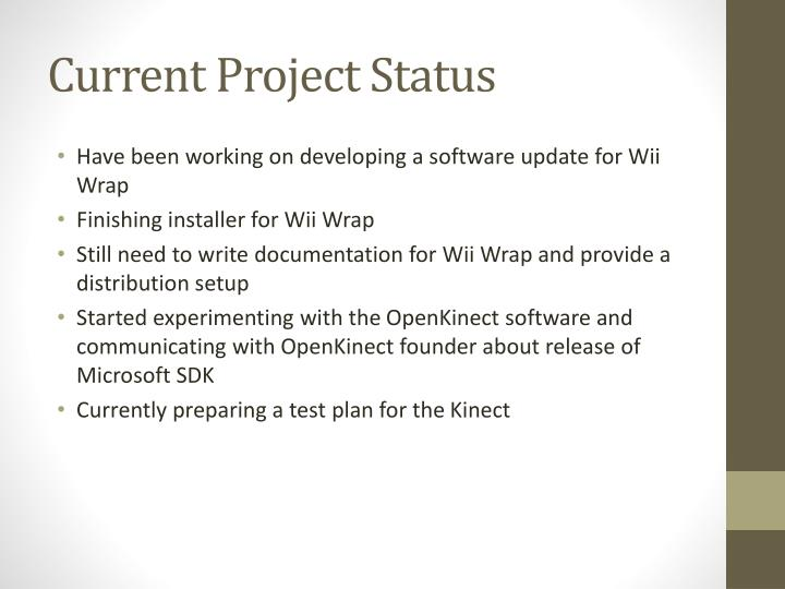 Current Project Status