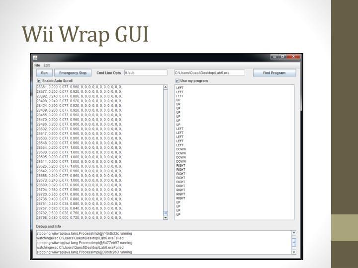 Wii Wrap GUI