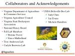 collaborators and acknowledgements
