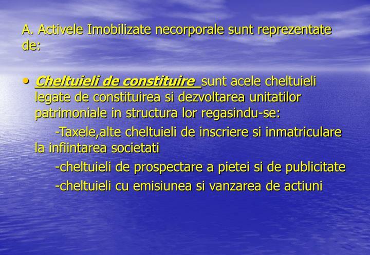 A. Activele Imobilizate necorporale sunt reprezentate de: