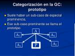 categorizaci n en la gc prototipo