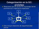 categorizaci n en la gc prototipo1