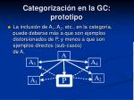categorizaci n en la gc prototipo2