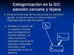 categorizaci n en la gc sanci n cercana y lejana