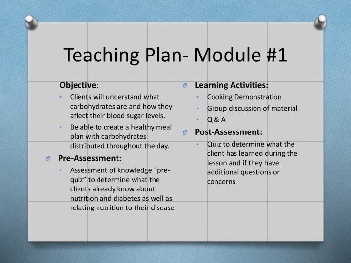 Teaching Plan- Module #1