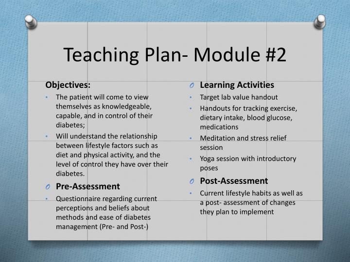 Teaching Plan- Module #2