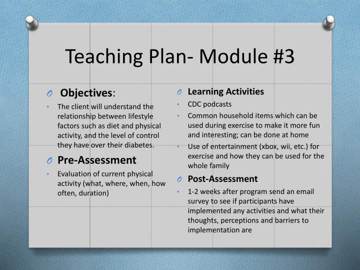 Teaching Plan- Module #3