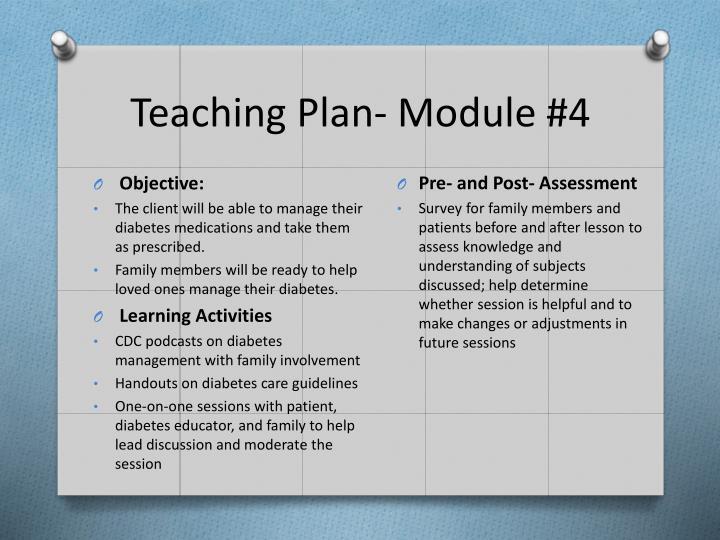 Teaching Plan- Module #4