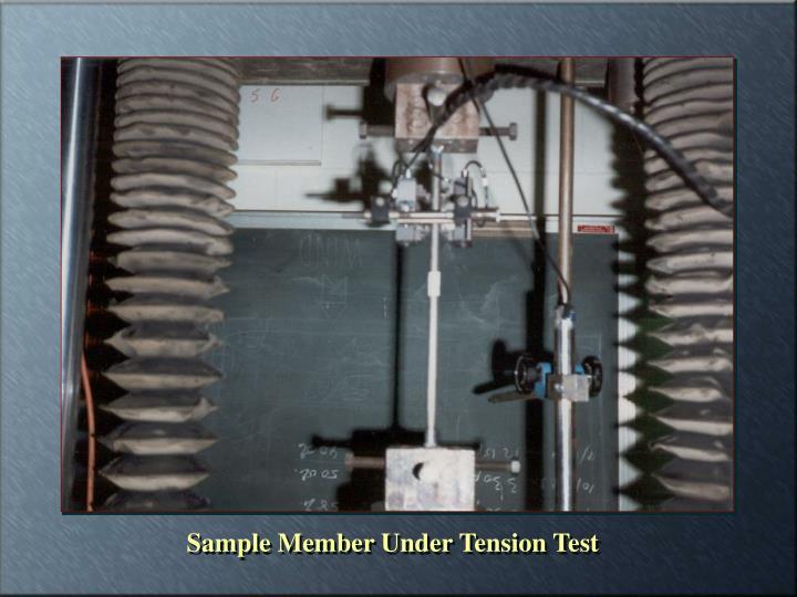 Sample Member Under Tension Test