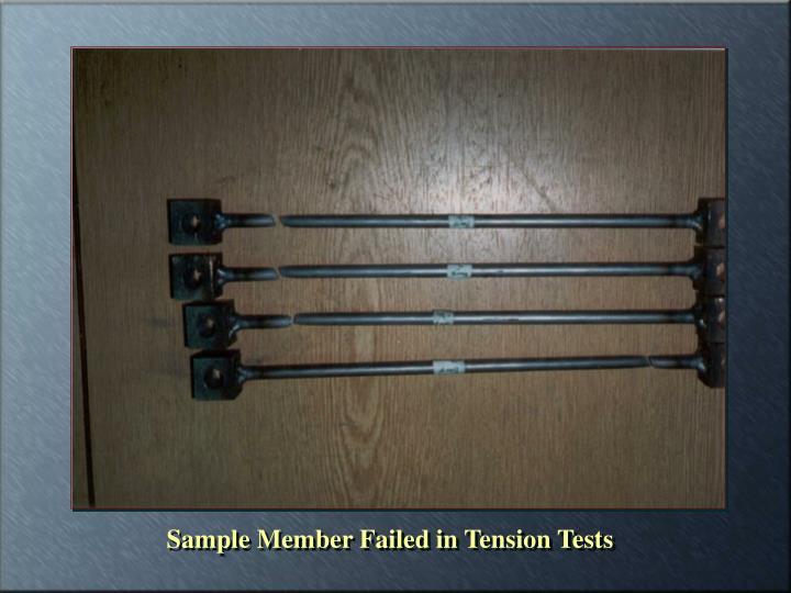 Sample Member Failed in Tension Tests