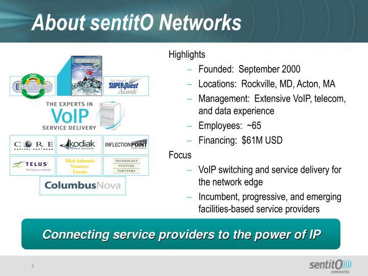 About sentito networks