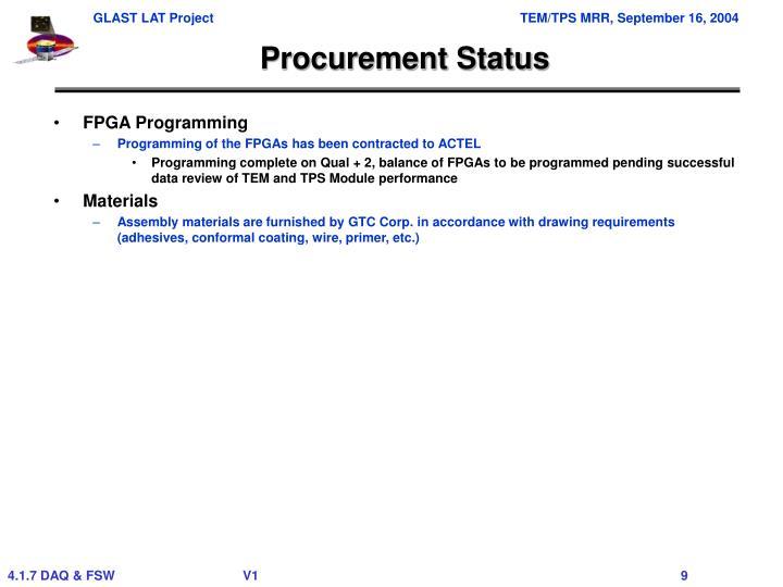 Procurement Status