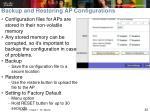 backup and restoring ap configurations