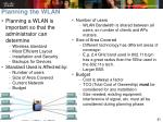 planning the wlan
