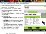 wireless client configuration