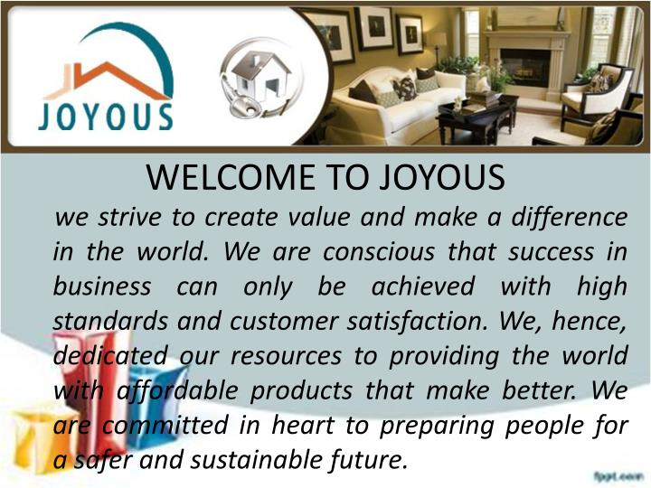 Welcome to joyous