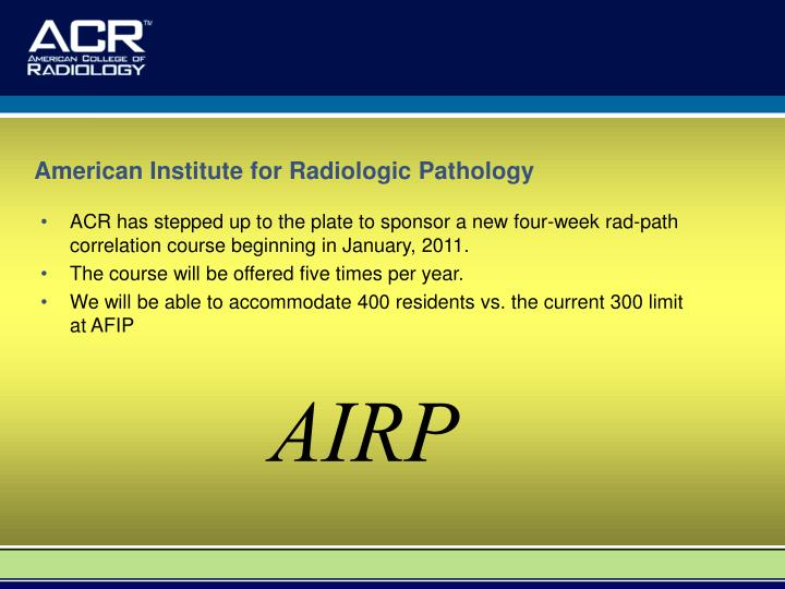 American Institute for Radiologic Pathology