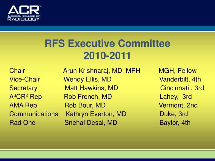 RFS Executive Committee