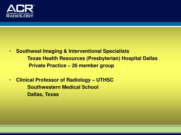 Southwest Imaging & Interventional Specialists