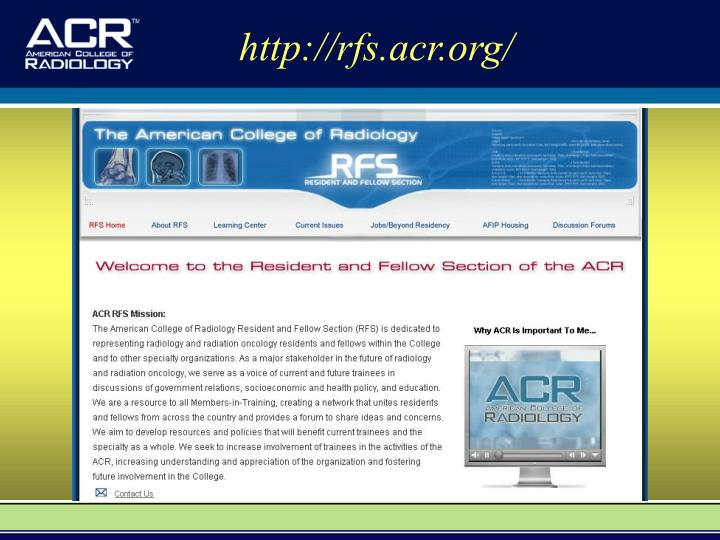 http://rfs.acr.org/