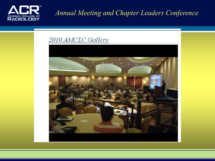 Annual Meeting and Chapter Leaders Conference