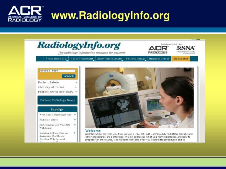 www.RadiologyInfo.org