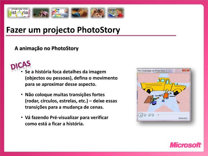 Fazer um projecto PhotoStory