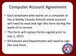 computer account agreement