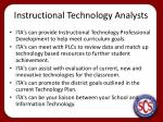 instructional technology analysts1