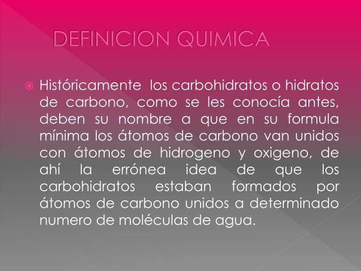 Definicion quimica