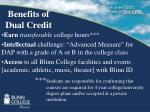 benefits of dual credit