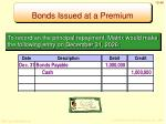 bonds issued at a premium7