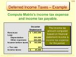 deferred income taxes example1