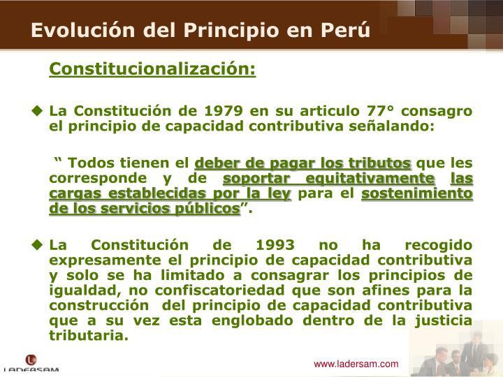 Constitucionalización: