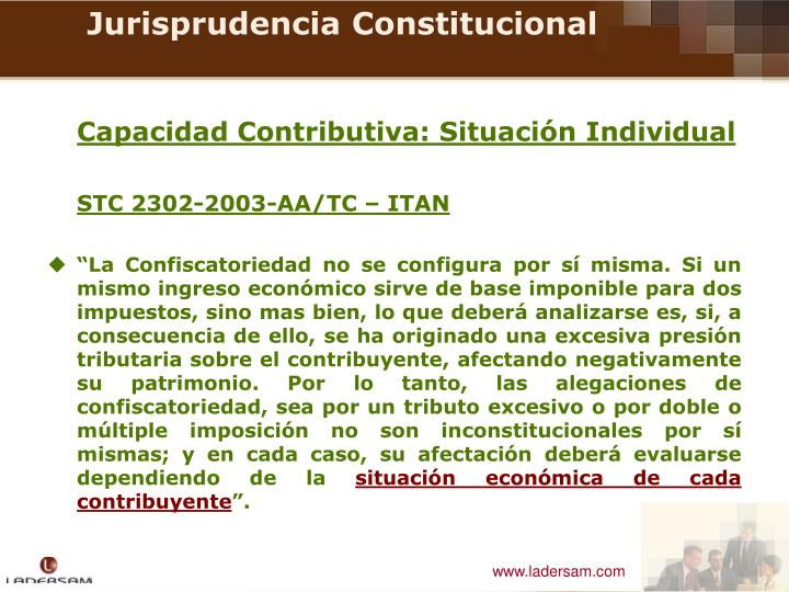 Capacidad Contributiva: Situación Individual