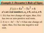 example 1 descartes s rule of signs