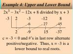 example 4 upper and lower bound