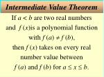 intermediate value theorem
