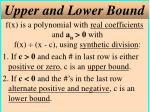 upper and lower bound