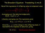 the breeders equation translating s into r