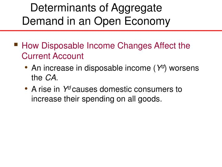 Determinants of Aggregate
