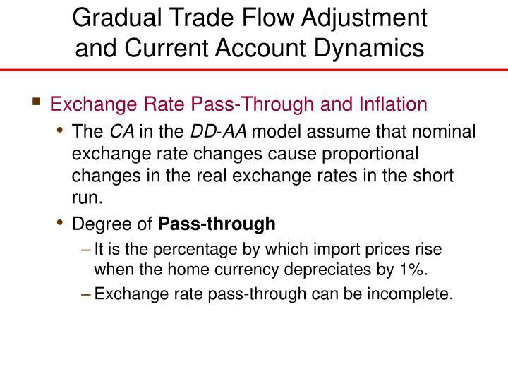 Gradual Trade Flow Adjustment