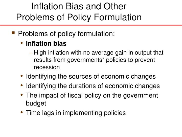 Inflation Bias and Other