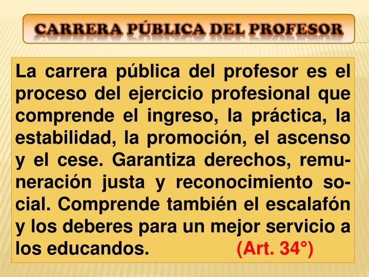 Carrera pública del profesor