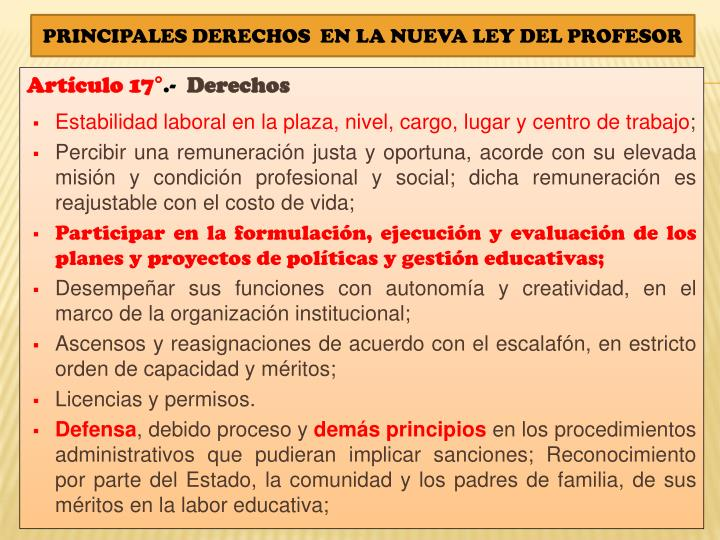 Artículo 17°