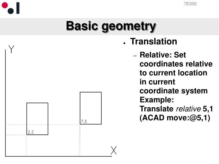 Basic geometry